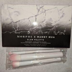 Morphe x Manny Mua palette & crown pro brush trio